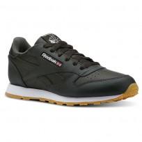 Reebok Classic Leather Shoes Kids Gum-Dark Cypress/White CN5613