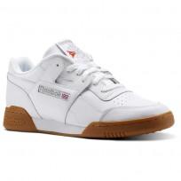 Reebok Workout Plus Shoes Mens White/Carbon/Classic Red/Reebok Royal-Gum CN2126
