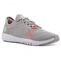 Reebok Flexagon Training Shoes Womens Whisper Grey/Atomic Red/Spirit White CN5509