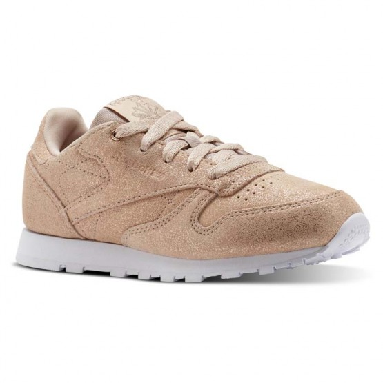 Reebok Classic Leather Shoes Girls Ms-Rose Gold/Bare Beige/White CN5589