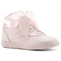 Reebok Freestyle HI Shoes Womens Porcelain Pink/Skull Grey CM8905
