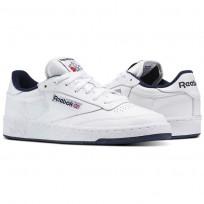 Reebok Club C 85 Shoes Mens Intense White/Navy AR0457