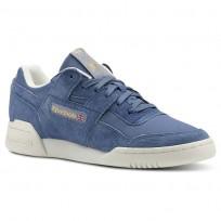Reebok Workout Lo Shoes Womens Vtg-Blue Slate/Chalk/Rbk Brass CN3834