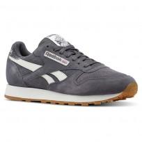 Reebok Classic Leather Shoes Mens Sg-Ash Grey/Chalk/Gum CN5772