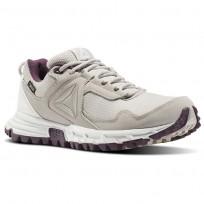 Reebok Sawcut Walking Shoes Womens Beige/Blue/Sandstone/Chalk/Washed Plum BS8078