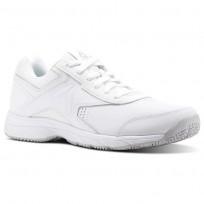 Reebok Walk Walking Shoes Mens White/Steel BS9523