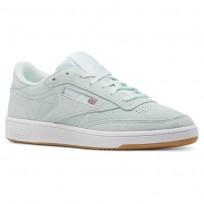 Reebok Club C 85 Shoes Womens Premim Basic 3-Mist/Gum/White CN5201
