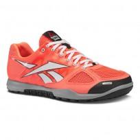 Reebok CrossFit Nano Shoes Mens Vitamin C/White/Black/Flat Grey J90890