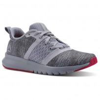 Reebok Print Running Shoes Womens Cloud Grey/Cool Shadow/Rugged Rose CN2612