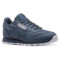 Reebok Classic Leather Shoes Kids Mc-Deep Sea/Mt Fuji/White CN5160