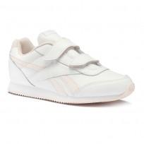 Reebok Royal Classic Jogger Shoes Boys White/Pale Pink CN4621