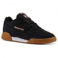 Reebok Workout Plus Shoes Mens Spg/Black/Digital Pink/White/Gum CN5194