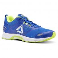 Reebok Ahary Runner Running Shoes Mens White/Bunker Blue/Solar Yellow CN5337