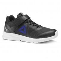 Reebok Rush Runner Running Shoes Boys Black/Vital Blue CN7251