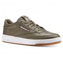 Reebok Club C 85 Shoes Mens Fg-Terrain Grey/White/Gum CN5776