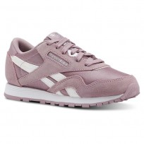 Reebok CL NYLON Shoes Girls Infused Lilac/White/Silver CN4871