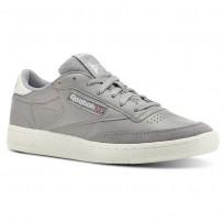 Reebok Club C 85 Shoes Mens Trc-Tin Grey/Chalk CN3438