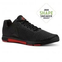 Reebok Speed Training Shoes Mens Black/Carotene CN5499