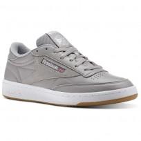 Reebok Club C 85 Shoes Mens Powder Grey/White/Washed Blue-Gum CM8794