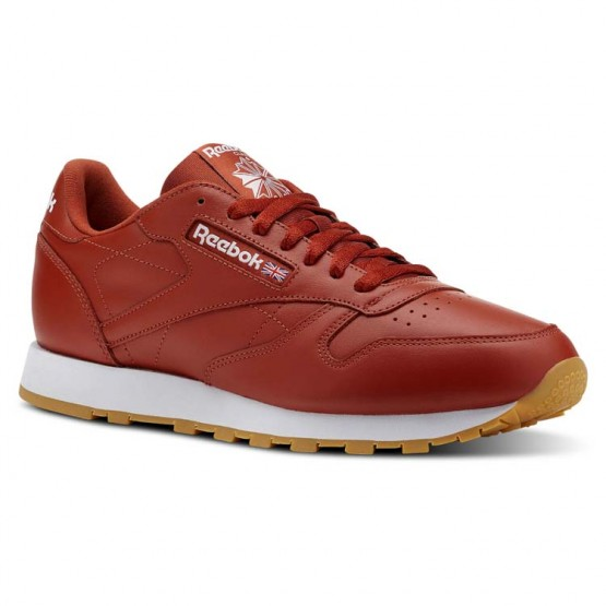 Reebok Classic Leather Shoes Mens Fg-Burnt Amber/White/Gum CN5769