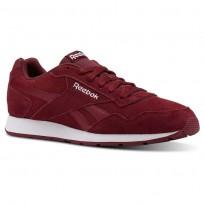 Reebok Royal Glide Shoes Mens Urban Maroon/White/Suede CN4563