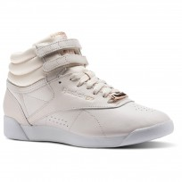 Reebok Freestyle HI Shoes Womens Pale Pink/White/Cool Shadow CN1495