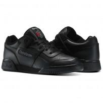 Reebok Workout Plus Shoes Mens Black/Charcoal 2760