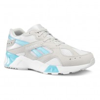 Reebok Aztrek Shoes Mens Enh-Skull Grey/White/Digital Blue CN7473