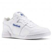 Reebok Workout Plus Shoes Mens White/Royal 2759