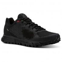 Reebok Sawcut Walking Shoes Mens Black/Ash Grey/Primal Red CN2123