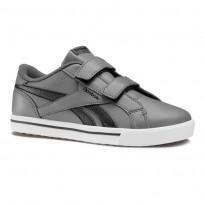 Reebok Royal Comp Shoes Boys Ash Grey/Black/Gum CN4851