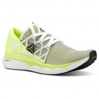 Reebok Floatride Run Running Shoes Mens White/Solar Yellow/Black CN5236