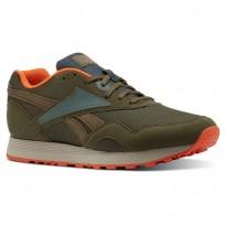 Reebok Rapide MU Shoes Mens Army Green/Chalk Green/Bright Lava/Parchment CN5915