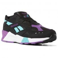 Reebok Aztrek Shoes Mens We-Black/Solid Teal/Abergine/White/Skull Grey DV3943