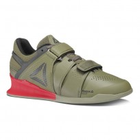 Reebok Legacy Lifter Shoes Mens Hunter Green/Coal/Primal Red/Chalk BS8216