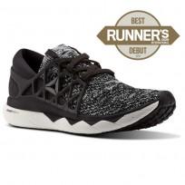 Reebok Custom Floatride Run Running Shoes Womens Black/Coal/White CM9059