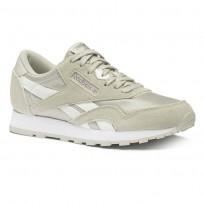 Reebok CL NYLON Shoes Boys Skull Grey/Wht/Silver CN8530