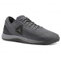 Reebok CrossFit Nano Shoes Mens Tin Grey/Sharkash Grey/Dark Silver CN2976