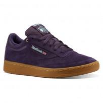 Reebok Club C 85 Shoes Mens Mc-Deep Purple/Malachite Lite/Gum CN3866