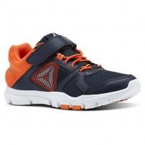 Reebok YourFlex Train 10 Training Shoes Boys Collegiate Navy/Bright Lava/White/Silver Met CN5668