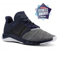 Reebok Fast Flexweave Running Shoes Womens Collegiate Navy/Ultima Purple/White CN2536