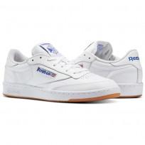 Reebok Club C 85 Shoes Mens Intense White/Royal-Gum AR0459