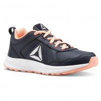 Reebok ALMOTIO 4.0 Running Shoes Girls Col Navy/Dgtl Pnk/Slvr Met CN4231