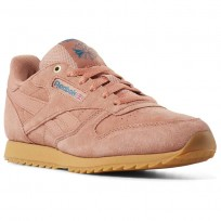 Reebok Classic Leather Shoes Boys Dirty Apricot/Gum CN5169