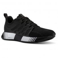 Reebok Fusion Flexweave Cage Running Shoes Womens Black/Coal/White CN2885