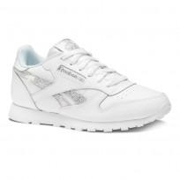 Reebok Classic Leather Shoes Girls Ss-White/Dreamy Blue/Tin Gry DV3614