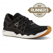 Reebok Custom Floatride Run Running Shoes Womens Black/Gravel/White/Gum CN7263