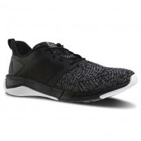 Reebok Print Running Shoes Womens Black/Foggy Grey/White CN2504