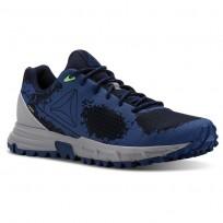 Reebok Sawcut Walking Shoes Mens Collegiate Nvy/Bunker Blue/Solar Grn/Skullgry CN2396