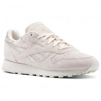 Chaussure Reebok Classic Leather Femme Rose/Argent BS9865